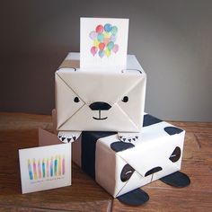 The cutest gift wrapping ideas along with Hibr greeting cards inspired by http://blog.mrprintables.com
