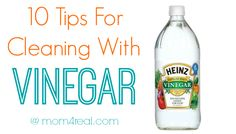 10 Tips For Cleaning With Vinegar - Mom 4 Real