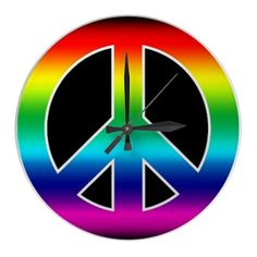 Peace Sign Wall Clock - needs the #'s on it tho...lol.