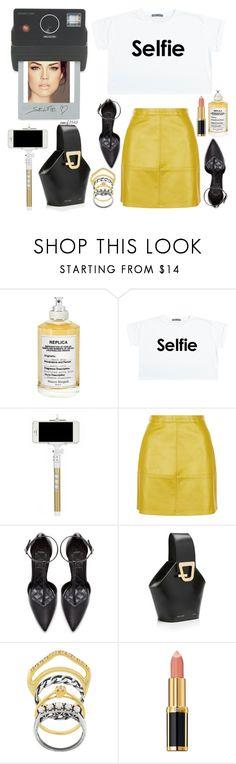 """Selfie"" by emcf3548 ❤ liked on Polyvore featuring Maison Margiela, Donkey Products, Zara, Danse Lente, Iosselliani and Balmain"