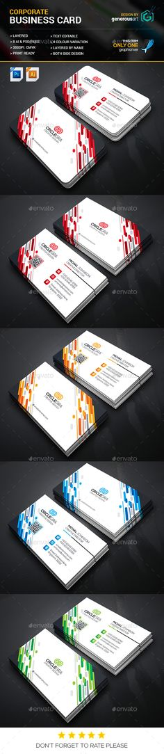 Creative Business Card — Vector EPS #black #modern design • Available here → https://graphicriver.net/item/creative-business-card/16402528?ref=pxcr