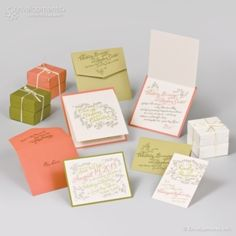 Ivory paper Gold & Coral font