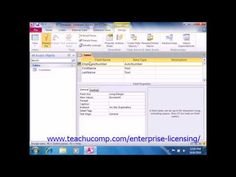 A clip from Mastering Microsoft Access Made Easy:  Creating Relational Database Tables. Get a FREE demo of our training for groups of 5 or more at www.teachucomp.com/enterprise-licensing/  Visit us today! www.teachucomp.com