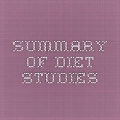 Summary of Diet Studies