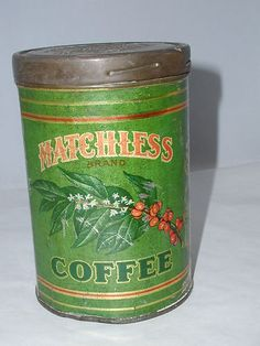 RARE Matchless 1 lb Coffee Tin Can Vintage Advertising Collectors 600 L | eBay