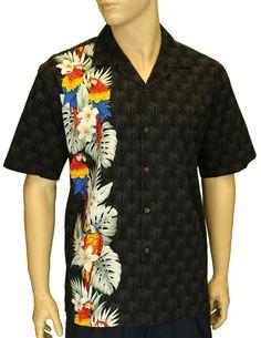 31c4771b Border Design Shirts. Hawaii OutfitsIsland WearAloha ShirtParrotsCotton ...