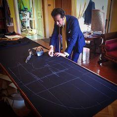 Bespoke morning coat in progress * Sartoria Pino Peluso Napoli