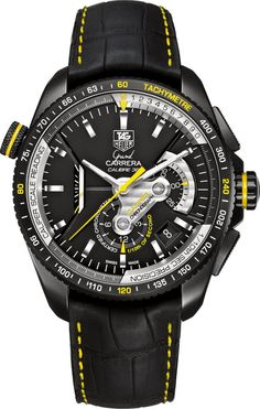 TAG Heuer Watch Grand Carrera Automatic Chronograph #bezel-unidirectional #bracelet-strap-alligator #brand-tag-heuer #case-material-black-pvd #case-width-43mm #chronograph-yes #cosc-yes #date-yes #dial-colour-black #gender-mens #luxury #movement-automatic #official-stockist-for-tag-heuer-watches #packaging-tag-heuer-watch-packaging #style-sports #sub-seconds-yes #subcat-grand-carrera #supplier-model-no-cav5186-fc6304 #warranty-tag-heuer-official-2-year-guarantee #water-resistant-100m