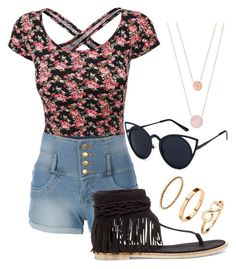"""N.A.T."" by madison-taylor-73 ❤ liked on Polyvore featuring LE3NO, Matisse and Michael Kors"