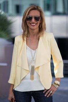 On the blog this week our beautiful Lemon Drop jacket and gold and silver chain fringe necklace both available on our web site www.jacketsociety.com