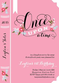 Story Book Birthday Party Invitations by DelightPaperie on Etsy