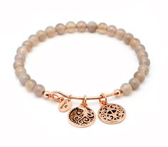 Chrysalis Femininity Grey Agate Expandable Bangle #christmas #gift