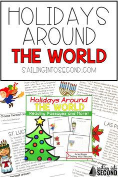 Christmas/holiday reading passages  reading passages to help you teach your students about Christmas all over the world!