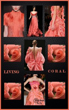 '' Living Coral- Pantone Spring/ Summer 2019 Color '' by Reyhan S.D. Pantone Colour Palettes, Pantone Color, Pantone Cmyk, Coral Fashion, Colorful Fashion, Live Coral, Colour Pallette, Spring Fashion Trends, Turquoise
