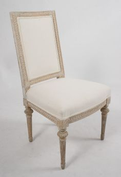 Pair of  signed Lundberg Gustavian Chairs | From a unique collection of antique and modern side chairs at http://www.1stdibs.com/furniture/seating/side-chairs/