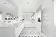 Soho isn't just in NYC or London any more: it's here at Mid America Tile. A chic spin on the classic subway tile and mosaics, Soho is one of the latest. Bathroom Interior, Modern Bathroom, Soho, Basket Weave Tile, Bathroom Paint Colors, Floor Art, Commercial Flooring, Bathroom Floor Tiles, Color Tile