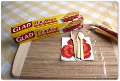 Getting ready for a picnic? Wrap up your utensils in ClingWrap to keep them clean and together. #gladhacks