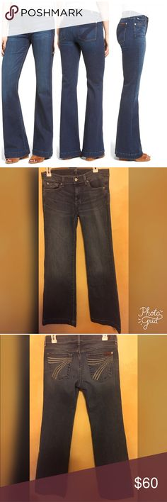 7 FOR ALL MANKIND DOJO BOOTCUT JEANS CONDITION: GOOD CONDITION  COLOR: MEDIUM WASH SIZE: 28 WAIST:  INSEAM: 33 MATERIAL: 98%cotton 2%spandex 7 For All Mankind Jeans Boot Cut