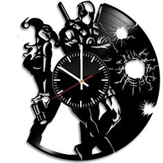 Superhero Items Vinyl Record Wall Clock  Get unique living room or bedroom wall decor  Gift ideas for his and her  Unique Movie Fan Art Design -- Find out more about the great product at the image link.