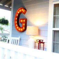 """Vintage Marquee Lights - 36"""" Letter G"""