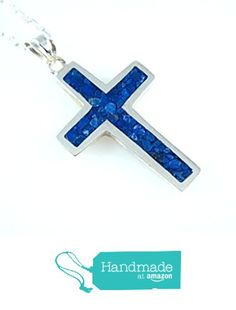 Men's Women's 925 Sterling Silver Natural Navy Blue Lapis 1.18'' Cross Pendant Necklace 18''(45 cm) Quality Chain Unisex from echmeck https://www.amazon.com/dp/B01N7DHD4N/ref=hnd_sw_r_pi_dp_8IvwzbFYX62R1 #handmadeatamazon