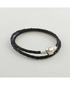 Pandora Bracelets 925 Sterling Silver Black Leather XUM001 Deals Christmas presents an indispensable choice.