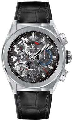 Zenith presenting the new 44mm-wide titanium case Zenith Defy El Primero 21 Watch with 1/100th of a second chronograph. Skeletonized dial with lots of details and a more masculine case waiting for you on our site...