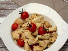 Émincé de dinde au balsamique, tomates cerises et parmesan