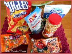 Fall snack mix!  Great recipe activity with young children