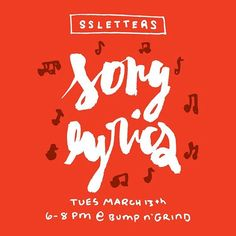 Woo hoo just 1 week to go til our special March doodle session at @bumpngrind_coffee_records! Join us from 6-8pm to letter & share your fav song lyrics! Deets at bit.ly/SSLSong #ssletters #acreativedc #madeatcatylator #dtss #silverspring #lettering #handlettering