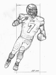 how to draw football players football player drawings - Sports Drawing Pictures
