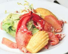 Chilled Lobster Salad With Lemon Thyme Madeleine - http://www.foodrepublic.com/recipes/chilled-lobster-salad-with-lemon-thyme-madeleine-recipe/