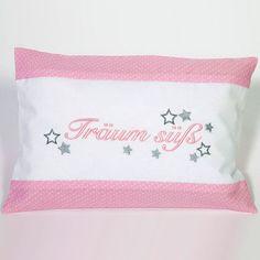 Schlaf-Gut Kissen - 'Träum Süß', Farbe rosa Bed Pillows, Pillow Cases, Pink, Sleep Well, Pillows