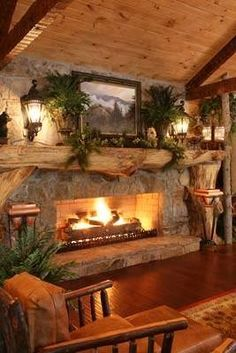 Love This Rustic Christmas Decor ~ ♥