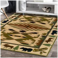 Hudson Ivory Southwest/Lodge Rug 1072A