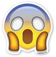 Face Screaming in Fear | Emoji Stickers