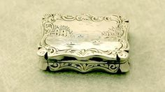 Sterling Silver Vinaigrette - Antique Victorian - AC Silver (A1889)