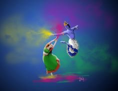 krishna abstract paintings - Google Search