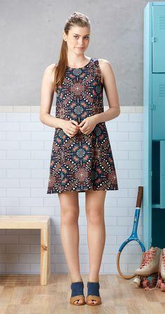 Só na Antix Store você encontra Vestido Raquete de Flores II com exclusividade na internet