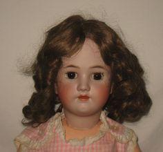 "Antique 28"" Heinrich Handwerck / Simon & Halbig Bisque Socket Head Doll  MZ9"