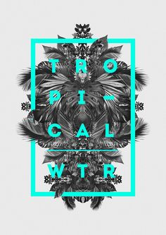 Tropical #design #graphic #type #typography