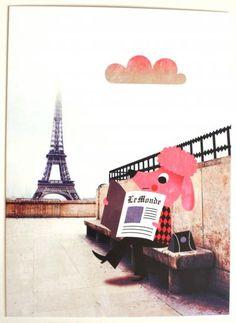 Greeting card #Paris 13x18 by #Ingela P #Arrhenius from www.kidsdinge.com https://www.facebook.com/pages/kidsdingecom-Origineel-speelgoed-hebbedingen-voor-hippe-kids/160122710686387?sk=wall