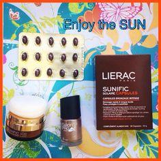 ☀Protecção solar em pó, para rosto! #sunific#lierac ☀️ Capsulas Sunific, para preparar a pele mais sensível ou com tendência a manchas, antes é durante a exposição ao sol ☀️ E divirtam-se com uma cor de unhas diferente! ☀️em www.glamssecret.com