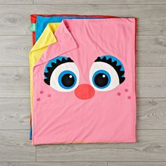 Shop Sesame Street Elmo and Friends Blanket. With a crew of beloved characters on the front, our Elmo & Friends Sesame Street Blanket was practically made for snuggling. The soft jersey knit baby blanket is also reversible, with solid colors on the back. Kids Blankets, Knitted Baby Blankets, Knitted Blankets, Sesame Street Party, Sesame Street Birthday, Elmo Birthday, Boy Birthday Parties, Thomas Birthday, Elmo Toys
