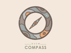 Simple and inspired with the grain effect adding a little extra uniqueness to it. Nice!  Compass by Yoga Perdana