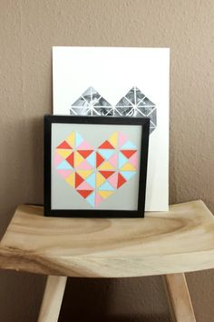 Mother's Day Gift Idea | Geometric Heart Poster – Scrap Booking