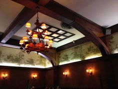 2013 Ceiling In The Main Dining Room At Musso & Frank Grill In Hollywood