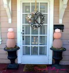 Hi and welcome.  I wanted to decorate our porch for fall a little differently this season but didn't want to spend a lot so I gathered those old orange light up�