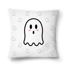 Almofada Miss Boo - I | Desenho/Estampa de @danistarart | A venda na @colab55 | #funny #fun #divertido #fantasma #fantasminha #ghost #boo #buu #geek #almofada #pillow #decoração #desenho #anime #estampa #pattern