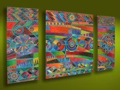Guatemalan Geometric Composition Tapestry by Ian Salt #GuatemalanArt